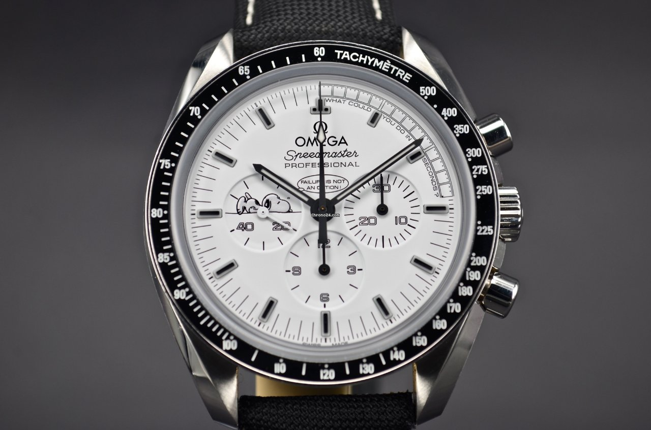 Heuer Uhren Omega Speedmaster Professional Moonwatch Silver Snoopy