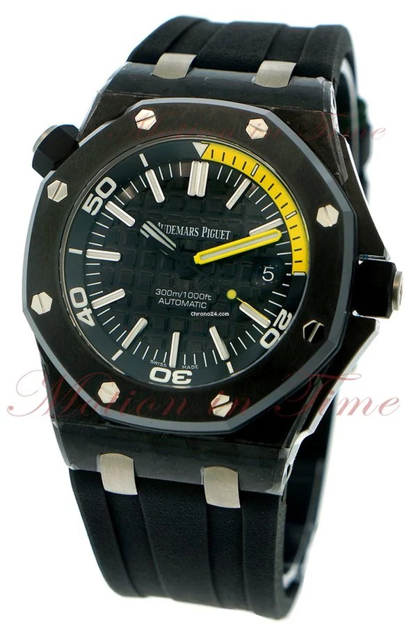 "Hublot Uhren Audemars Piguet Royal Oak Offshore Diver ""yellow"", Black"