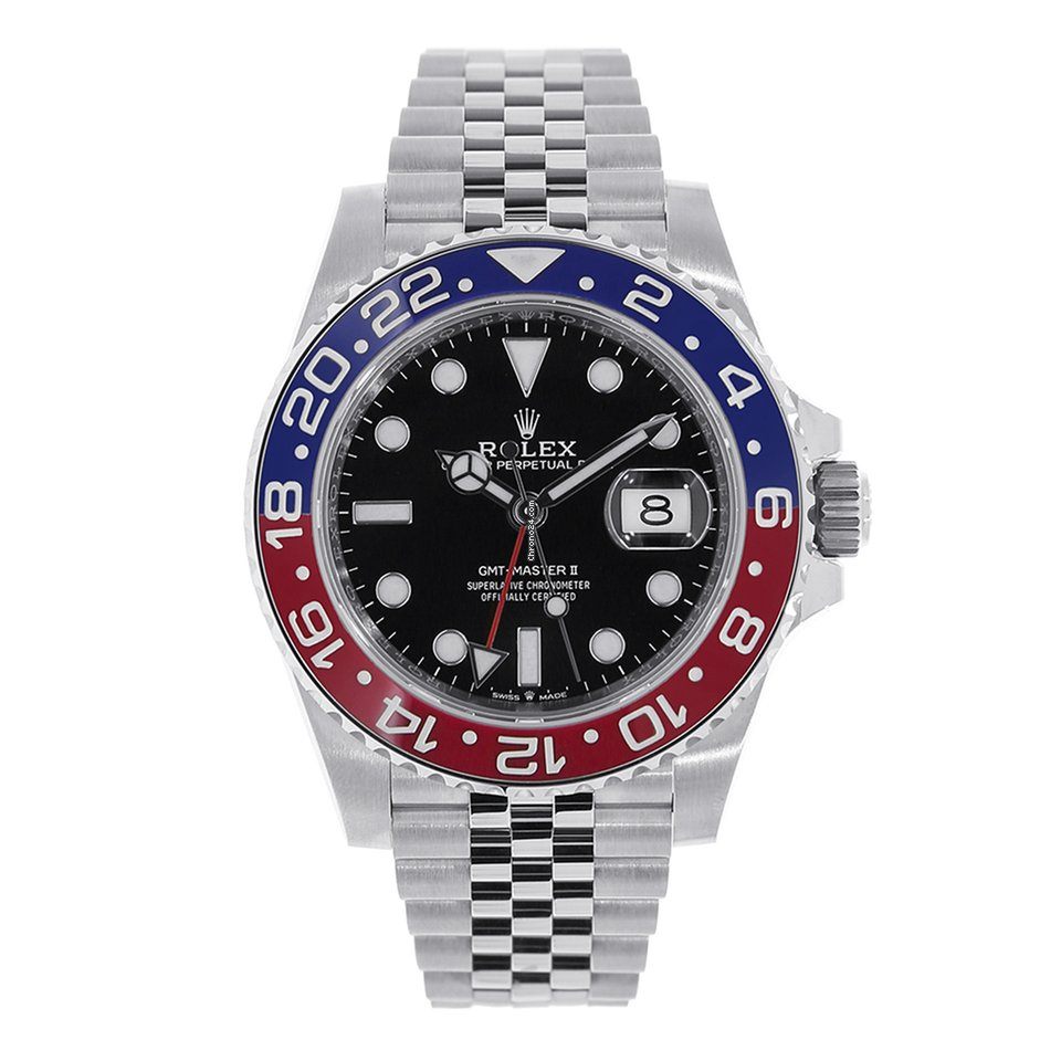 Steel Rolex Rolex Gmt Master Ii Stainless Steel Red Blue Pepsi Bezel 126710