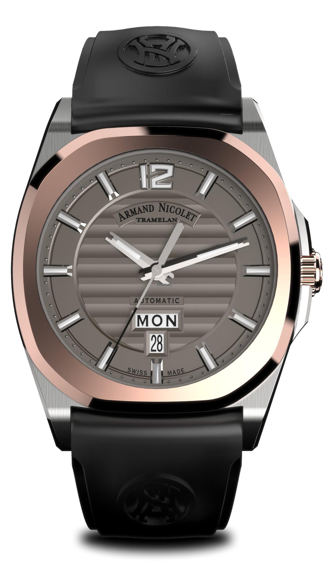 Rubber Mand Armand Nicolet J09 Day Date D650aaa Gr Gg4710n
