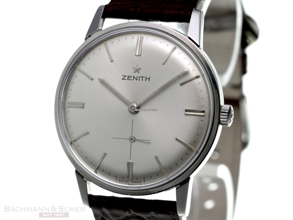 Bilder Von Uhren Zenith Gentleman Watch With Screw Back Case Stainless Steel Cal 2531 Bj 1960