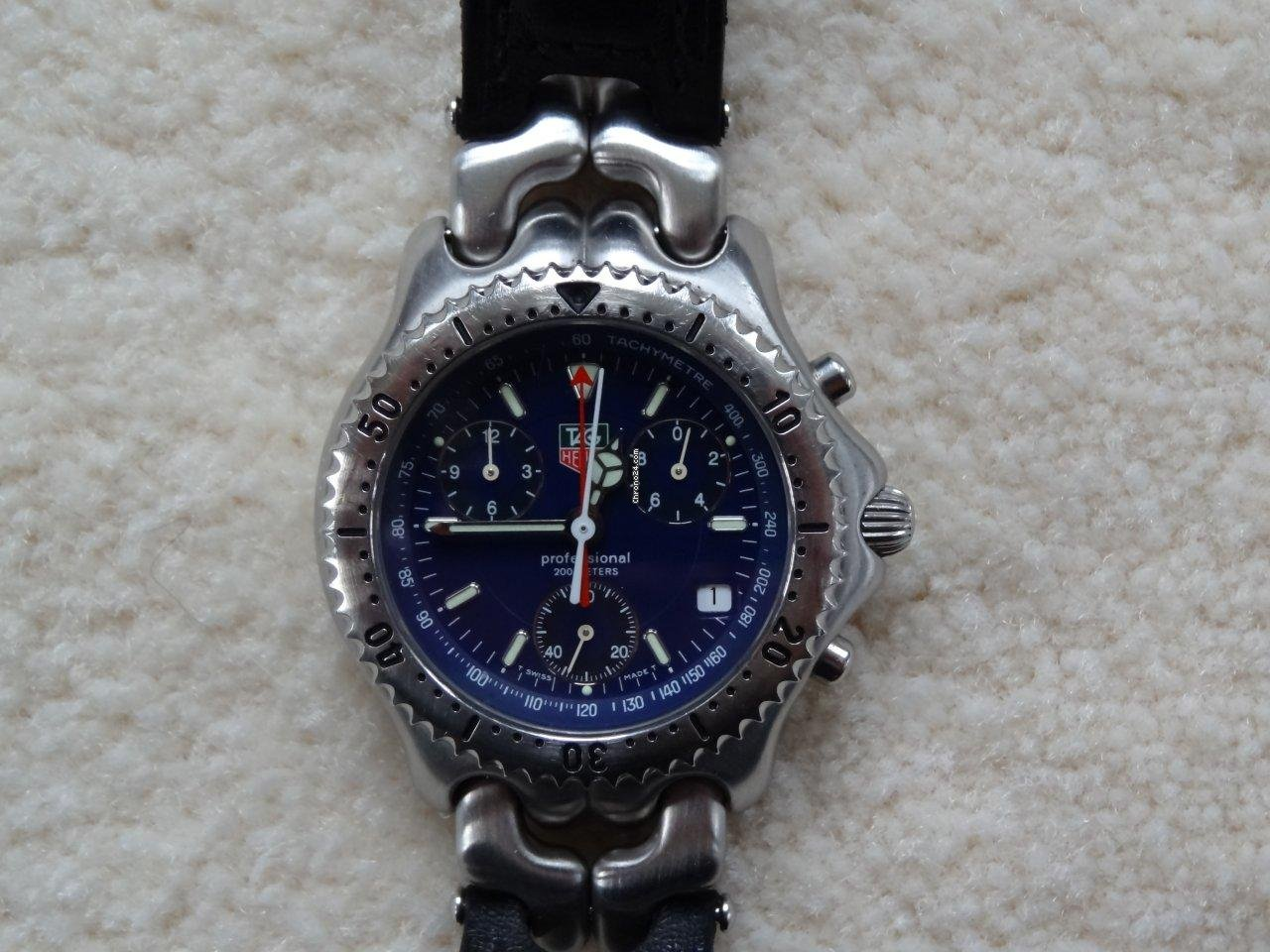 Breitling Uhr Gebraucht Tag Heuer Sel Link S/el Chronograph With Extremly Rare