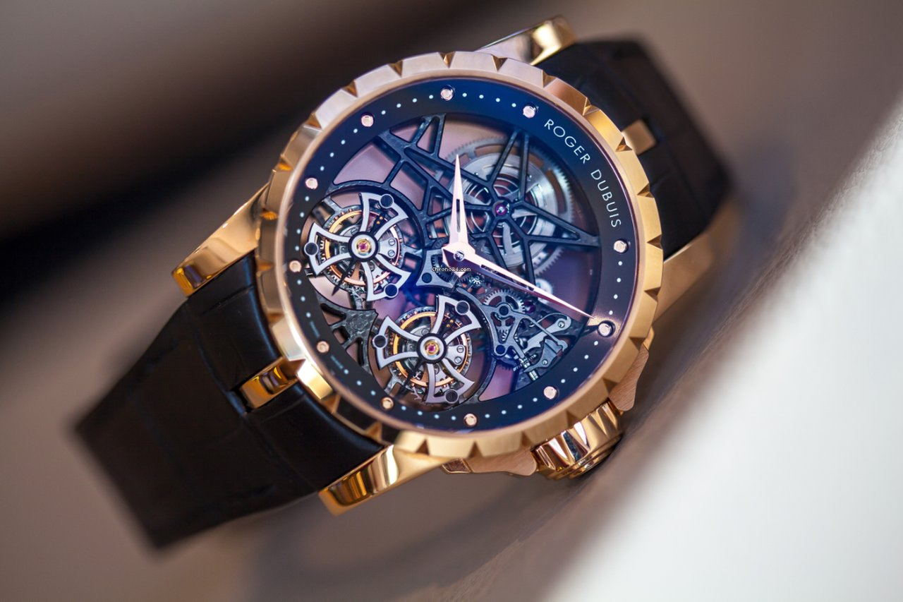 Hublot Uhren Roger Dubuis Excalibur Skeleton Double Flying Tourbillon