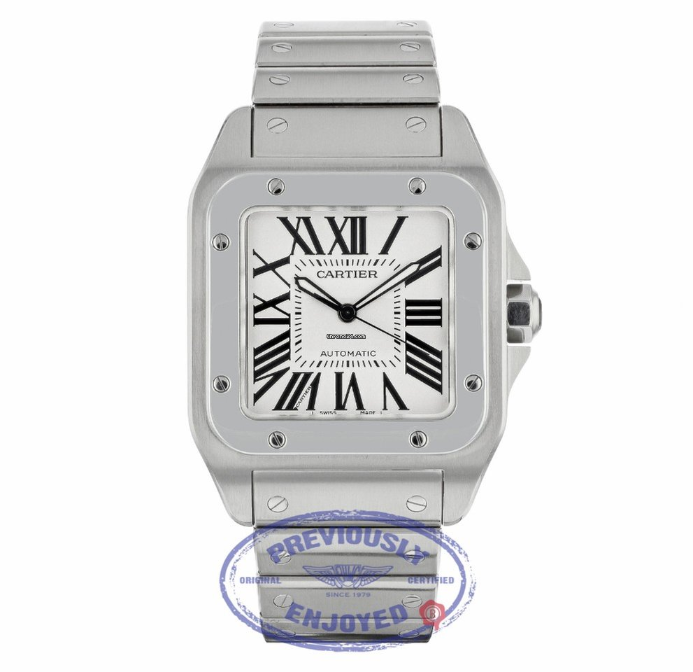 Steel Watch Cartier Santos 100 Large Stainless Steel Bracelet