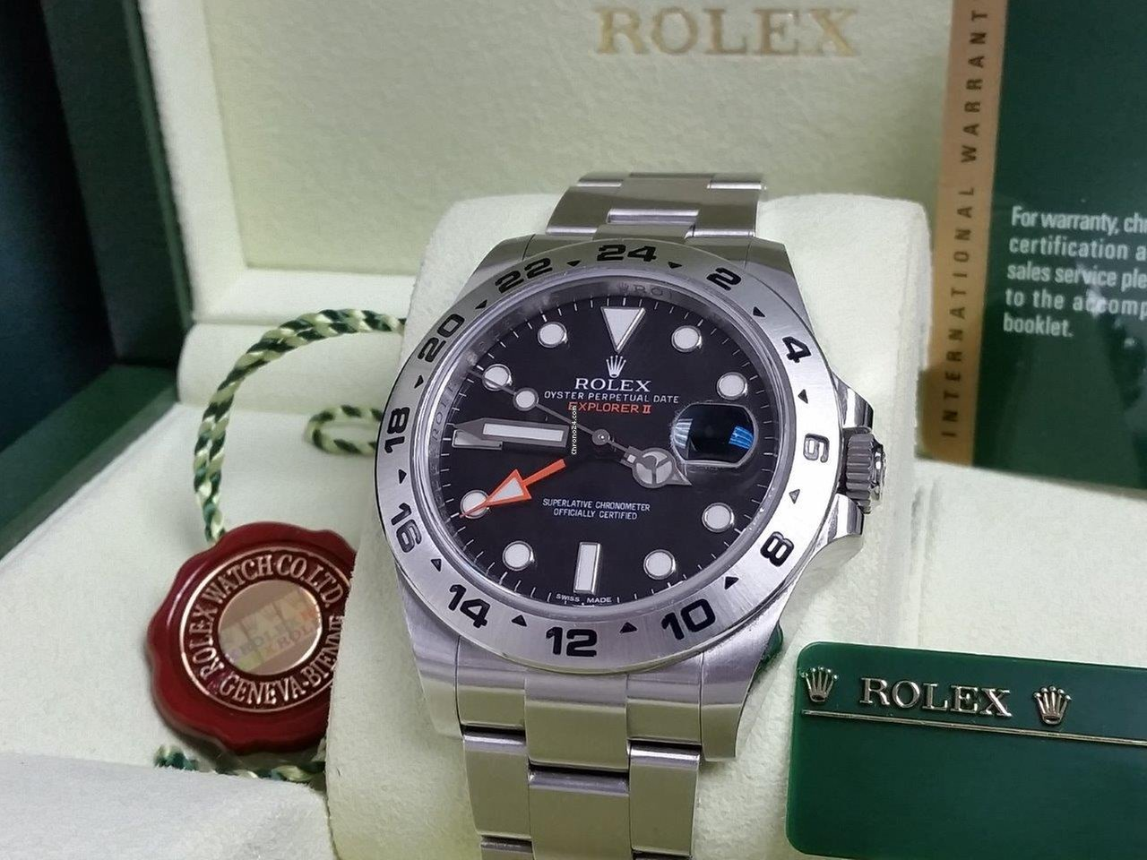 Rolex Explorer Rolex 42mm Explorer Ii Black Orange Gmt Mint Full Set