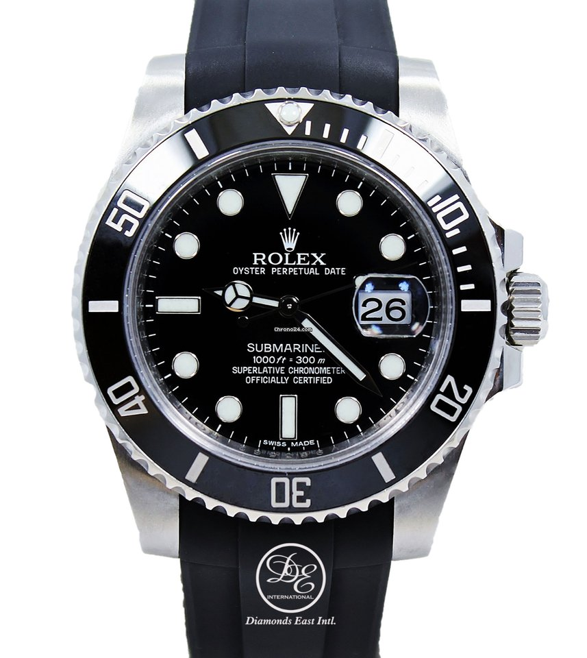 Rolex Rubber Rolex Submariner 116610ln Date Ceramic Bezel Rubber B Steel Mint