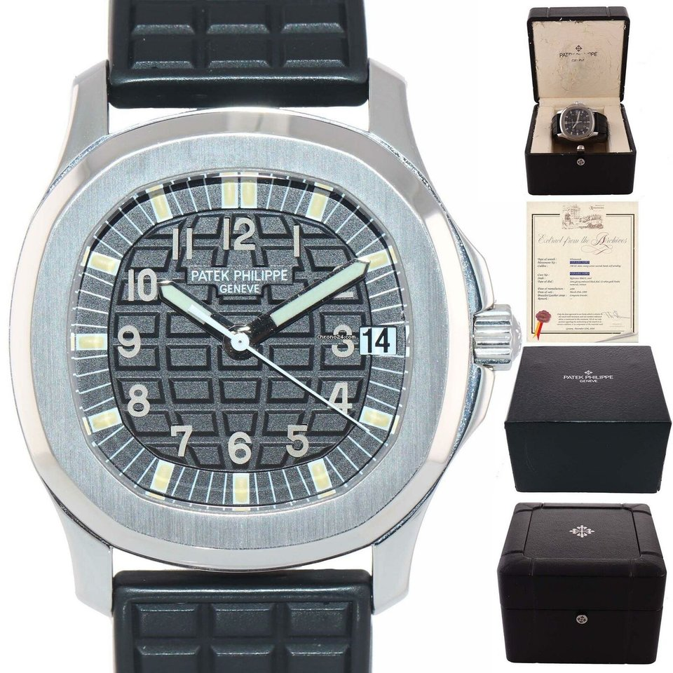 P Philippe Watch Patek Philippe Papers Tritium Steel 5066 Aquanaut Black Rubber 5066 1 36mm Watch