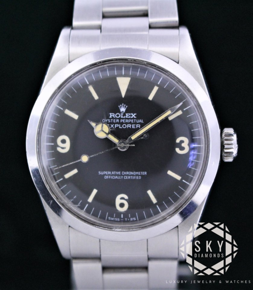 Rolex Explorer Rolex Explorer 1016 Frog Foot Perfect Gilt Dial Year 1967