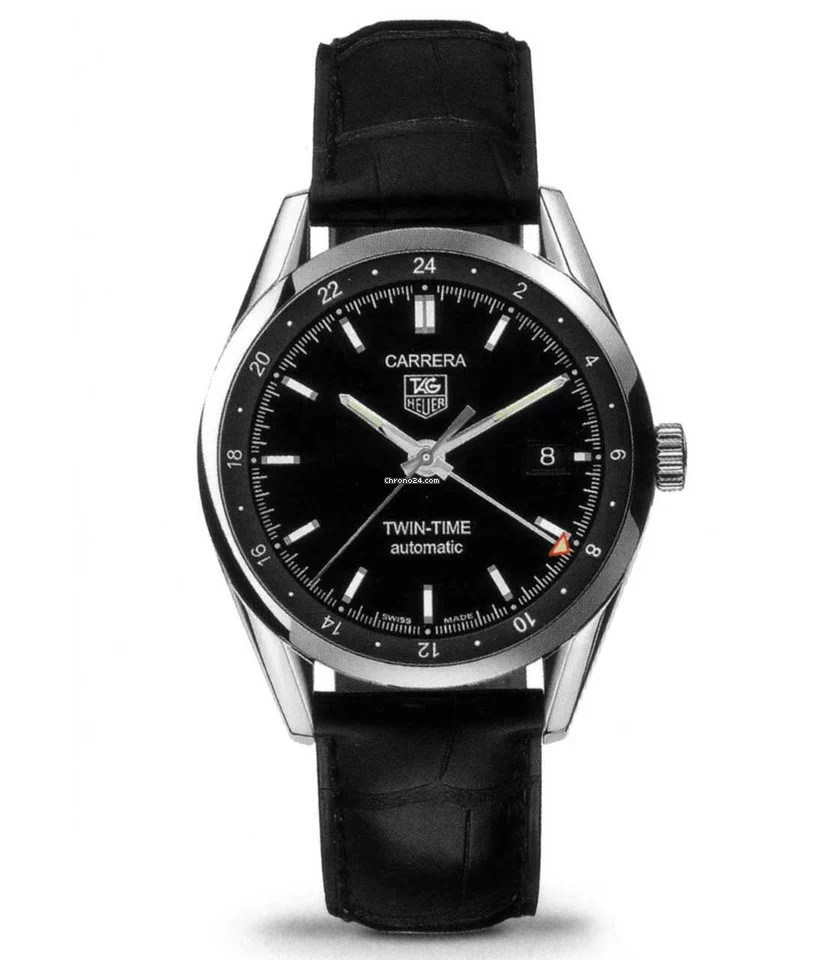 Cariera' Tag Heuer Carrera Calibre 7 Twin Time Automatic Watch 39 Mm