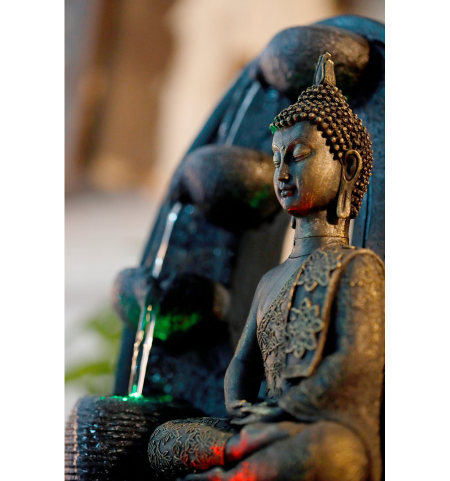 Grande Fontaine D'interieur Bouddha Details About Large Indoor Fountain Buddha Harmony 40cm Led Lighting Show Original Title