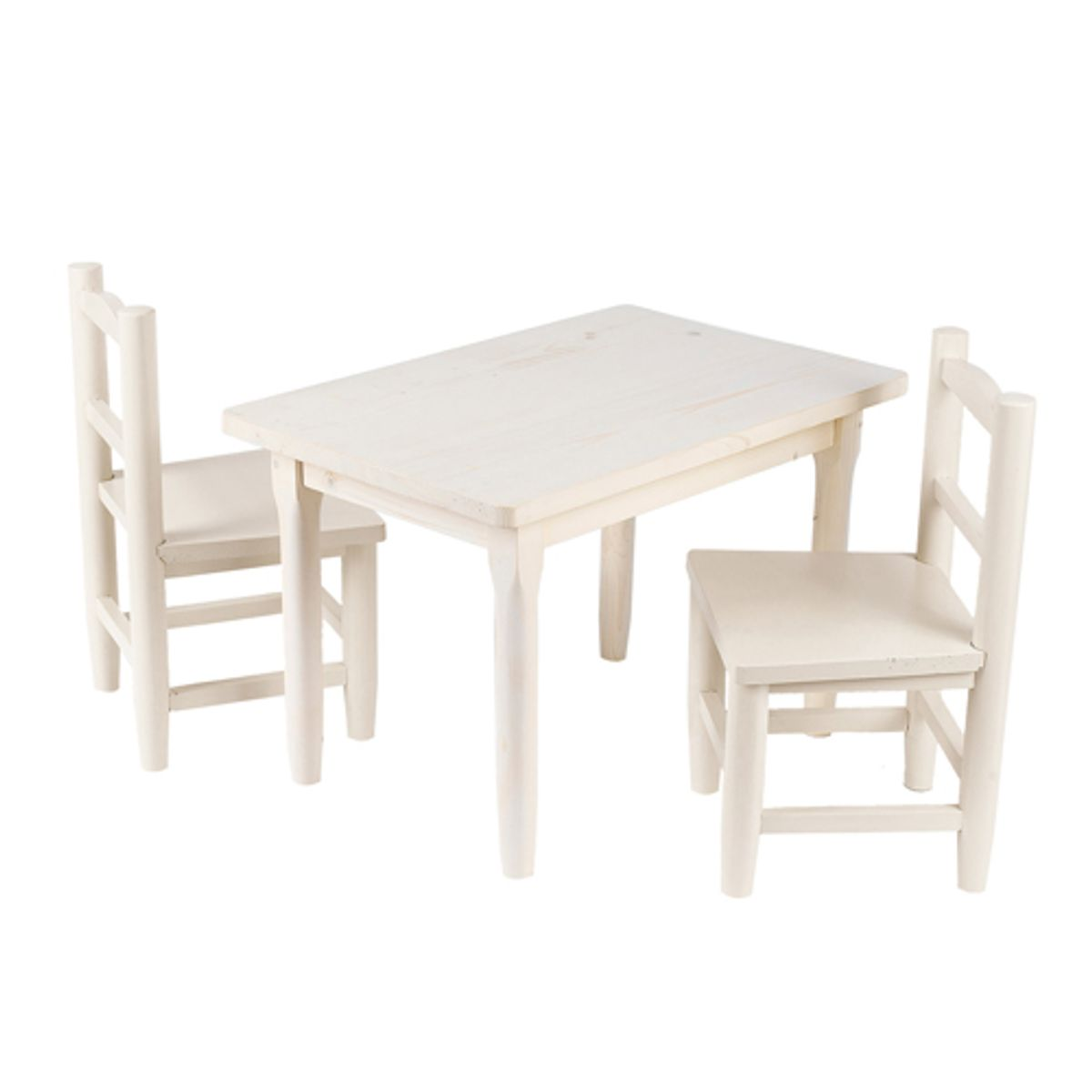 Table 2 Chaises Table Avec 2 Chaises Enfant En Pin Blanchi Decoclico