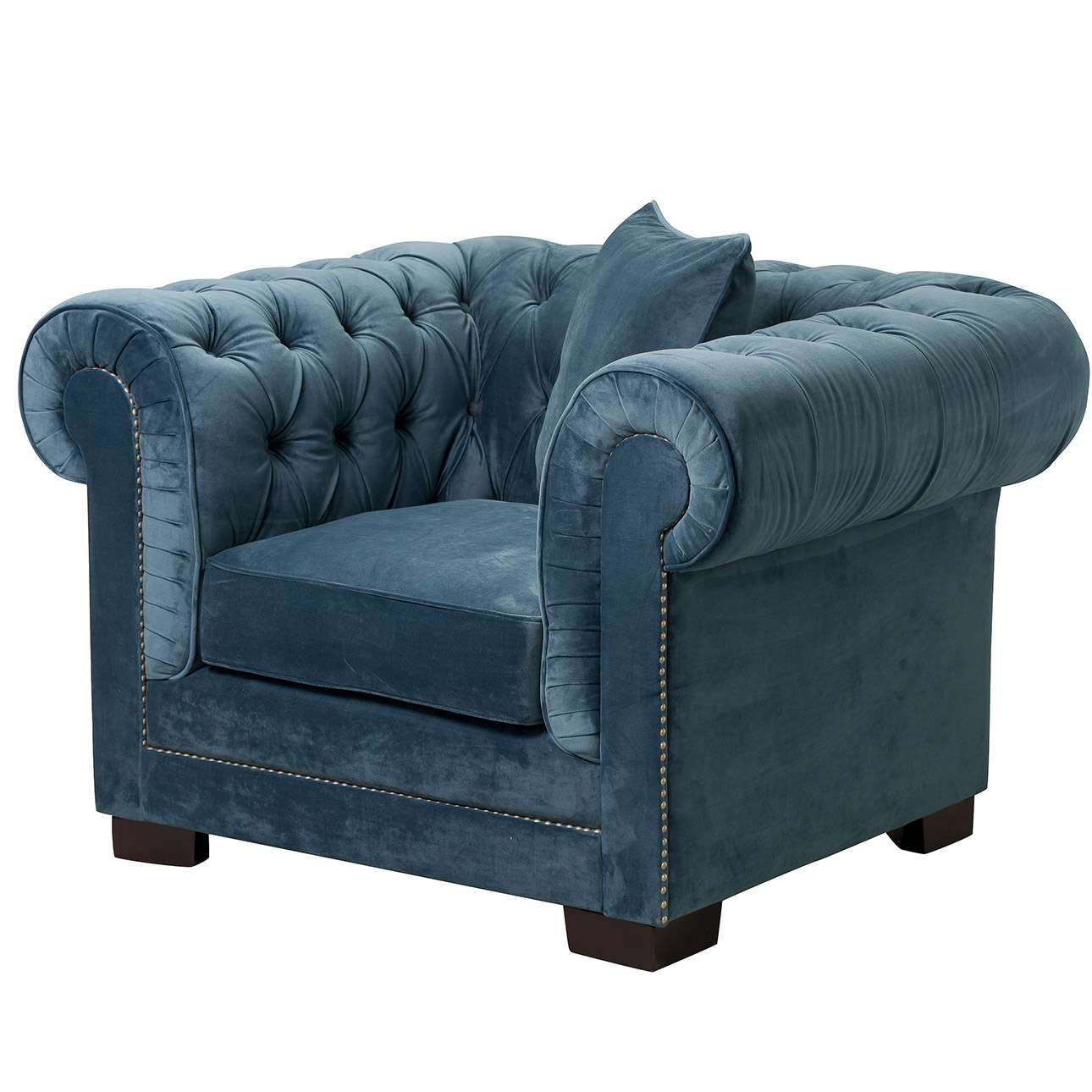 Sessel Chesterfield Sessel Chesterfield Classic Velvet Midnight