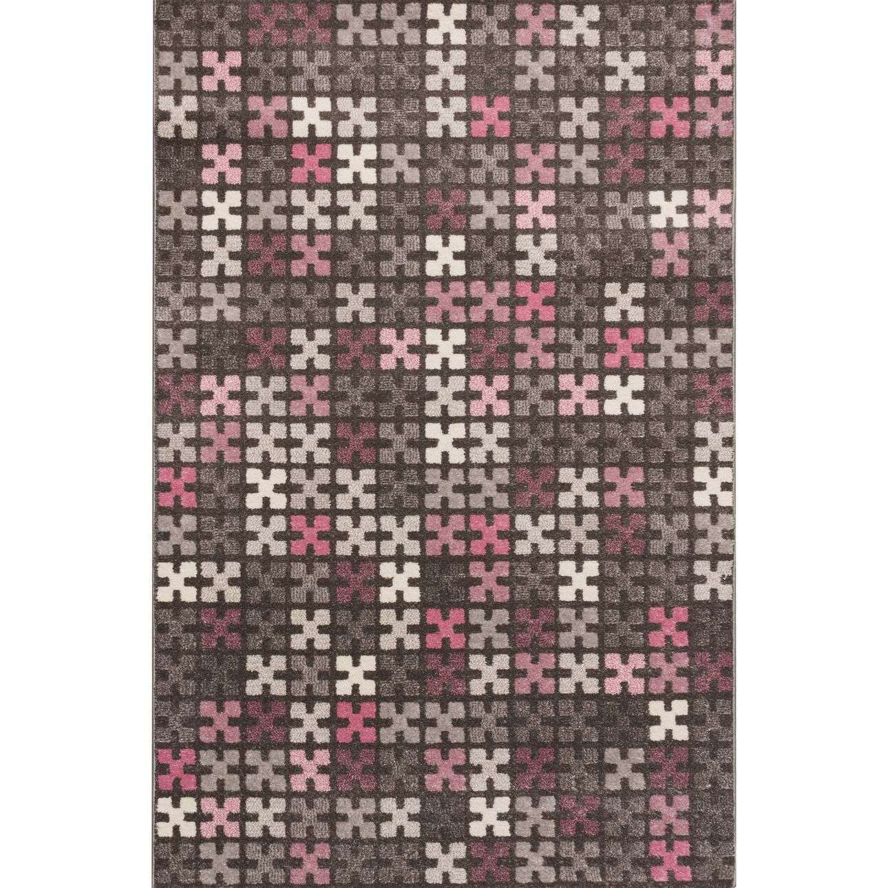 Teppich Puzzle Teppich Modern Puzzle Charisma Rose Frost Grey 135x190cm