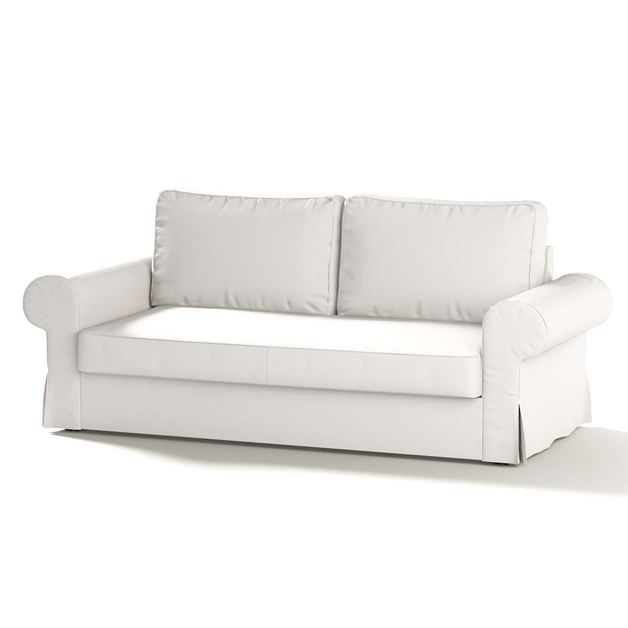 Backabro Ecksofa Backabro Cotton Panama Weiss Poäng Hockerbezug
