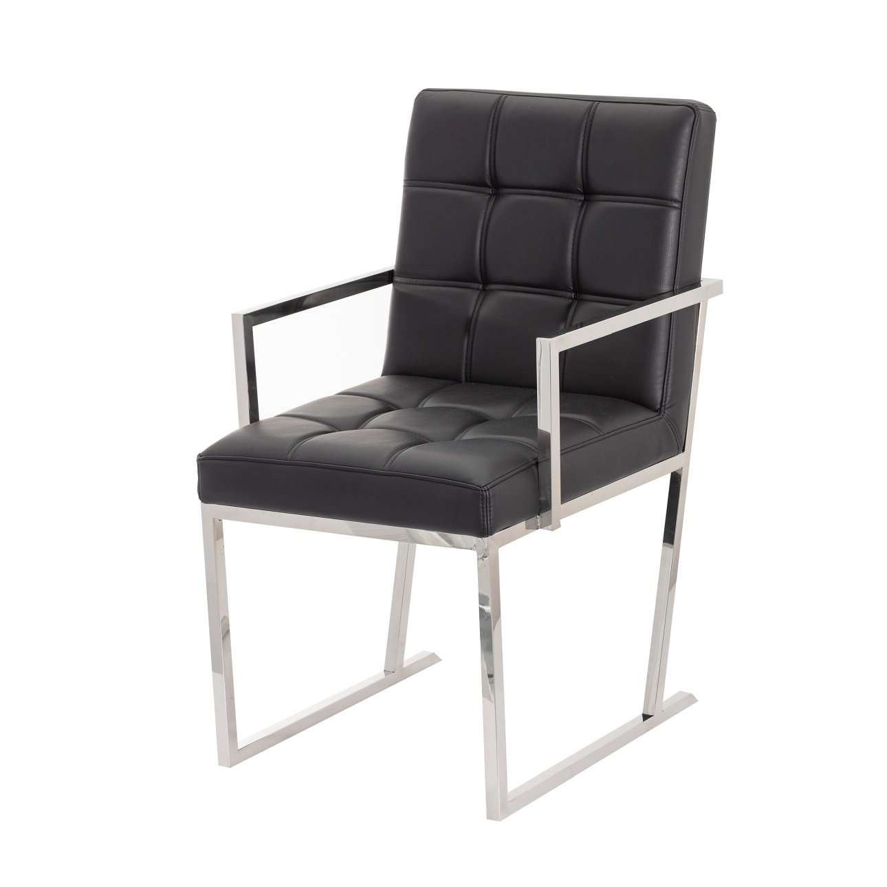 Sessel Gesteppt Schwarz Sessel Conti Black Leather