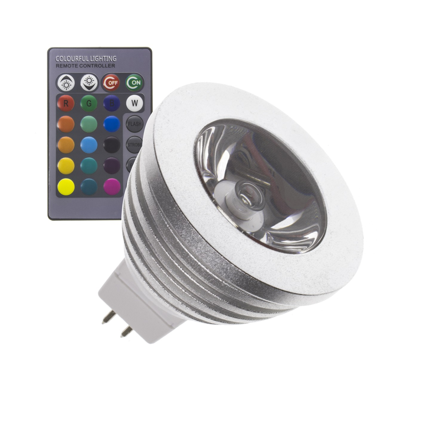 Lamparas Led 3w Lámpara Led Gu5 3 Mr16 12v Dc Rgb 60º 3w