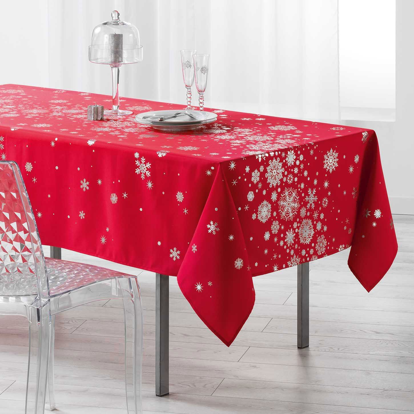 Nappe Rouge Nappe Rectangulaire 240 Cm Constellation Rouge Linge