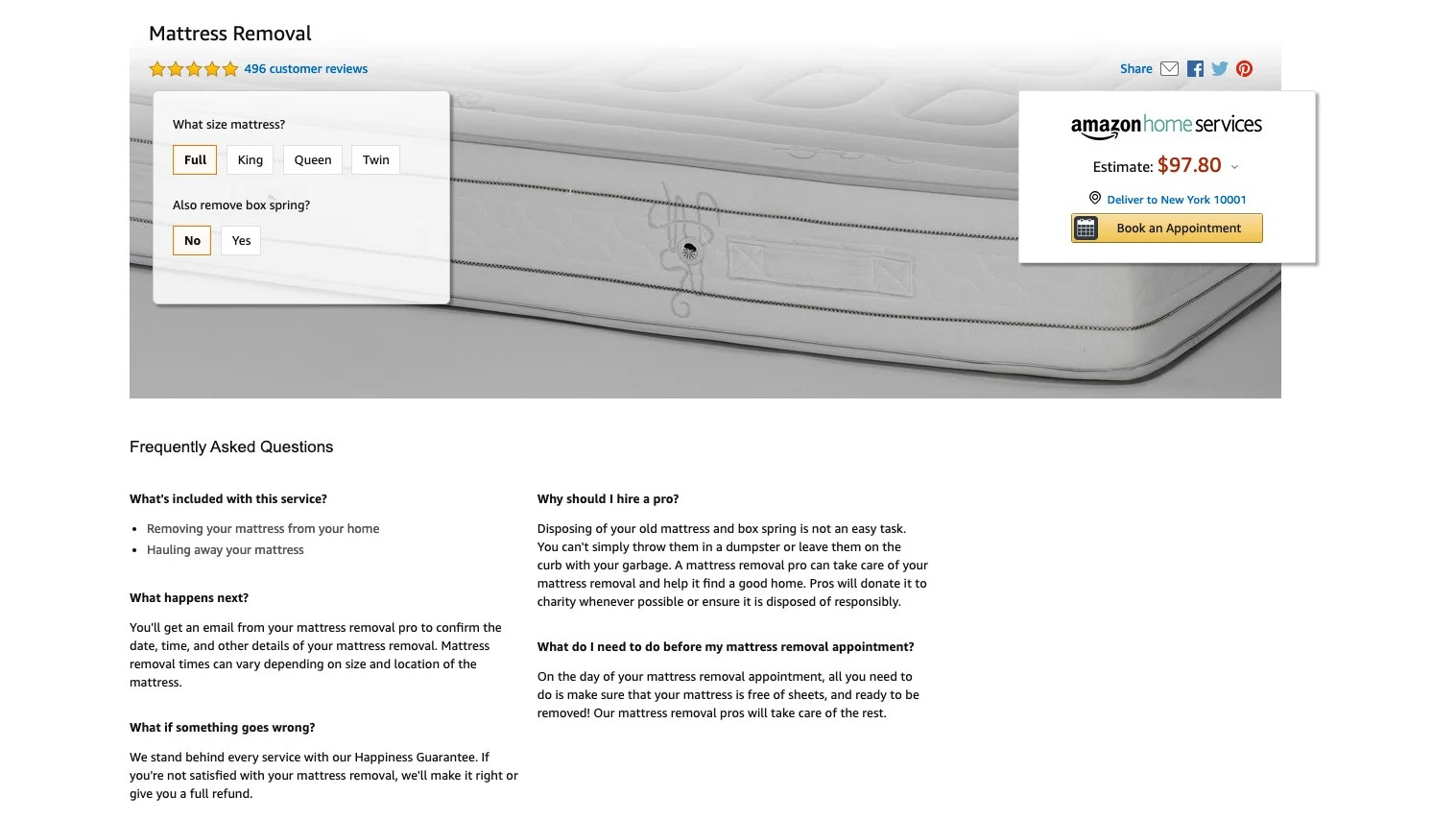 Amazon Sofa Removal How To Dispose Of An Old Mattress Expert Reviews