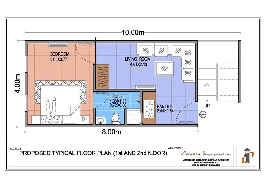 Entry #29 by archiak01 for simple layout 2 executive apartments (2