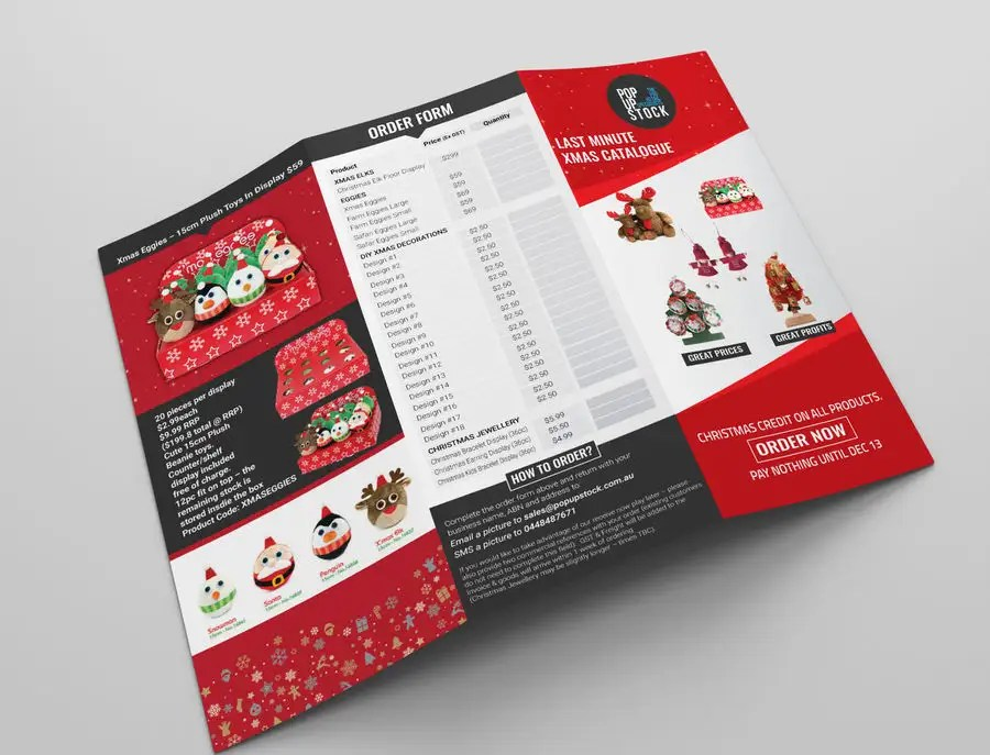 Entry #15 by emranadobe24 for Create a Christmas Themed Tri-Fold - create tri fold brochure