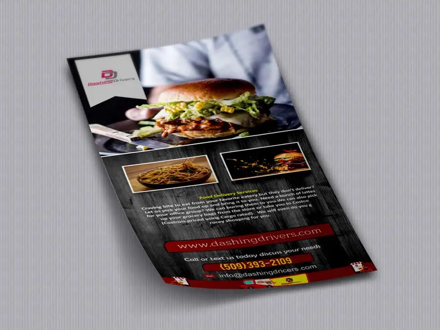 Entry #13 by prabhjotsajjan for Design a Flyer for a Food Delivery