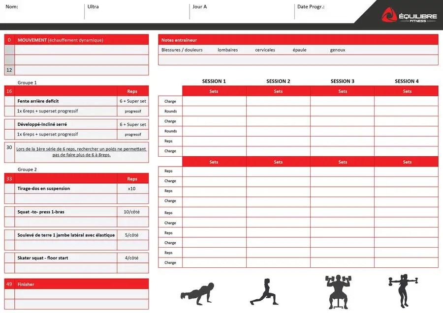 Entry #15 by MarkJaya for simple workout sheet Freelancer
