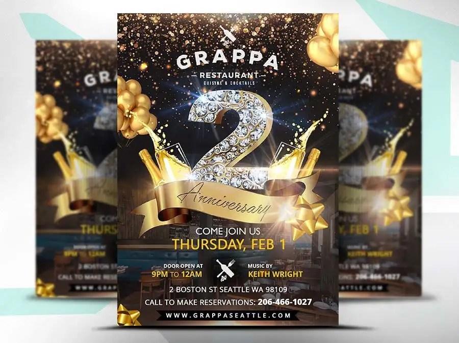 Entry #25 by satishandsurabhi for 2nd year anniversary flyer - anniversary flyer