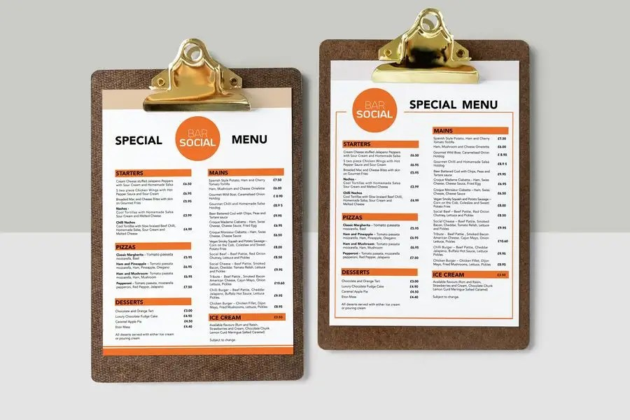 Entry #41 by thtoufiq for Design/Create funky food menu for bar