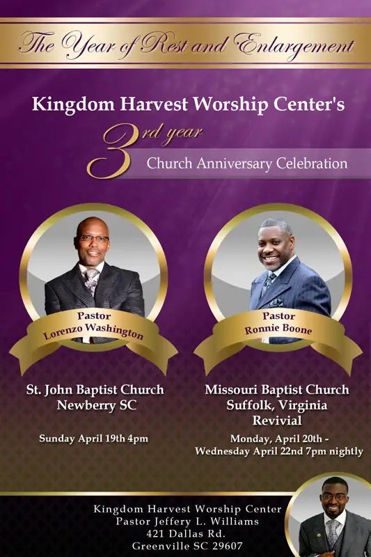 Entry #15 by damirruff86 for Design a church anniversary flyer -- 2
