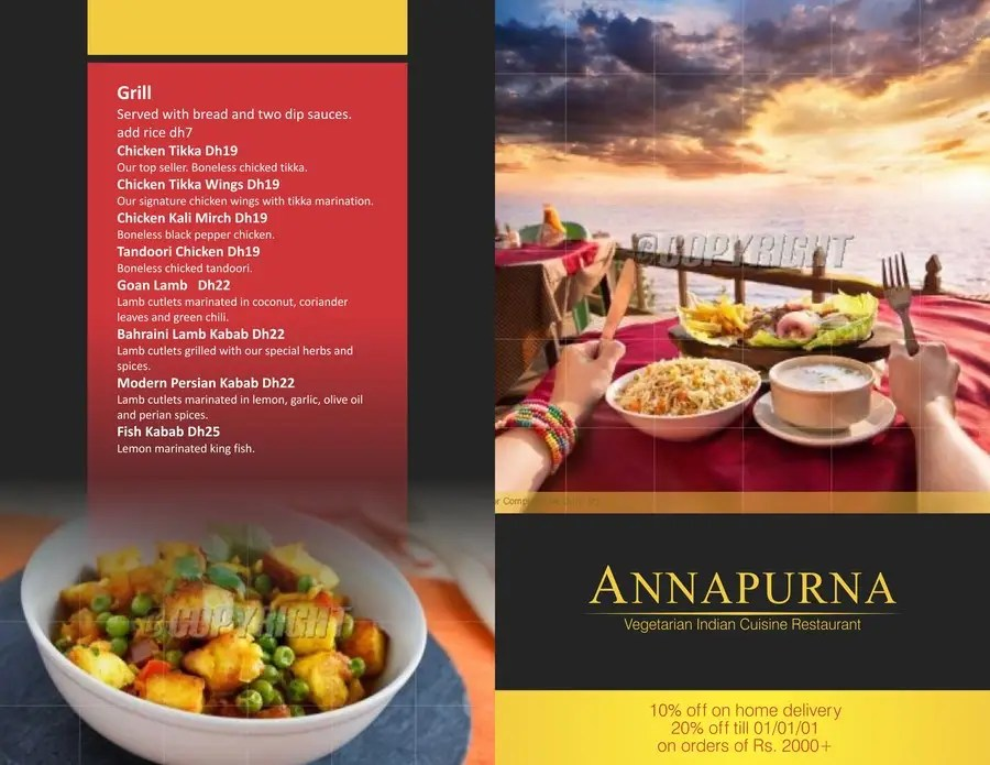 Flyer Design for a small Indian cuisine restaurant Freelancer