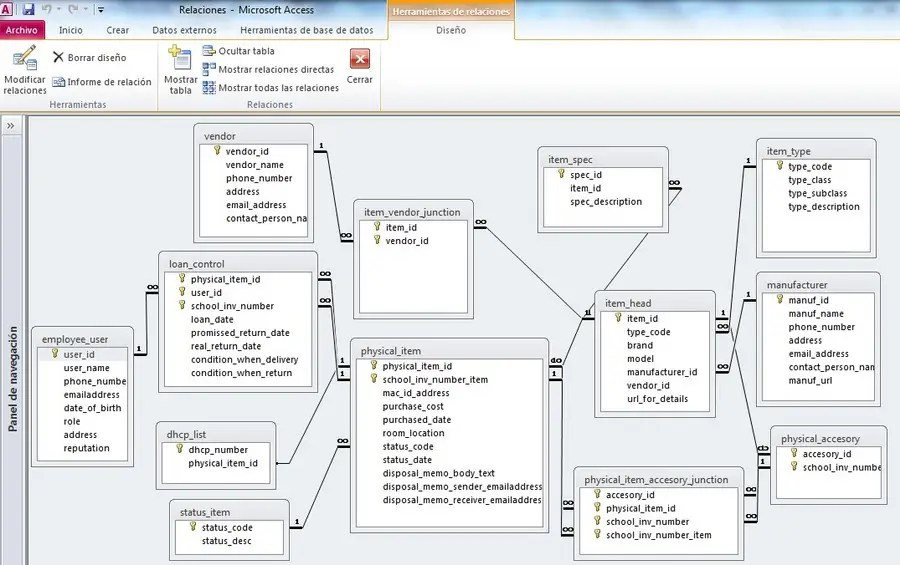 Entry #10 by vw7209238vw for Create Relational Database for School - how to create an inventory database