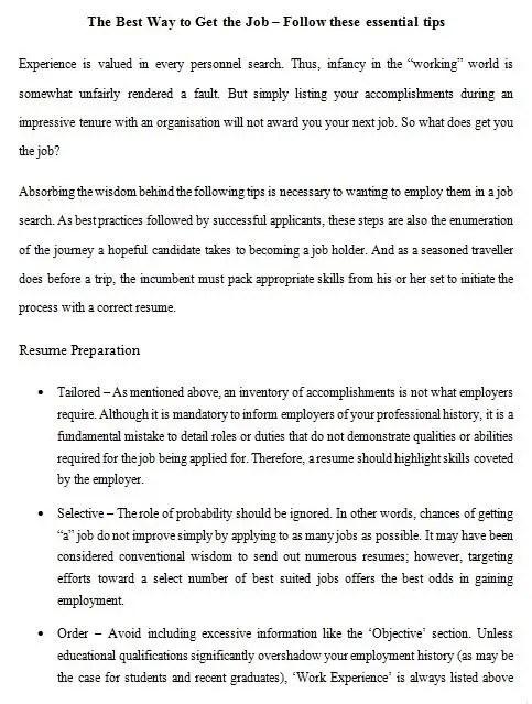 Entry #13 by SJasonDutta for 21 Essential tips to getting that job