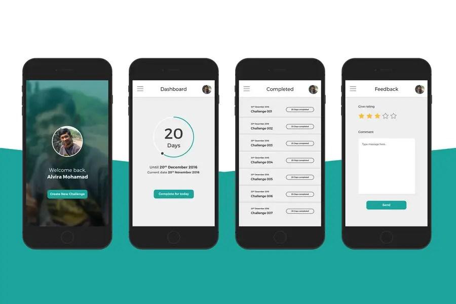 Entry #9 by mohamadalvir for App UI design for iPhone app Freelancer