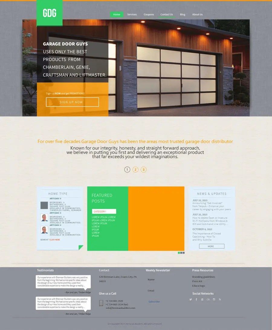 Garage Design Template Entry 14 By Jowinlee For Create A Wordpress Template For Garage