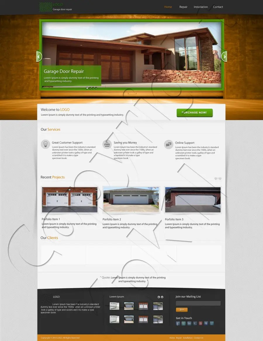 Garage Design Template Entry 7 By Kpk1l For Create A Wordpress Template For Garage Door