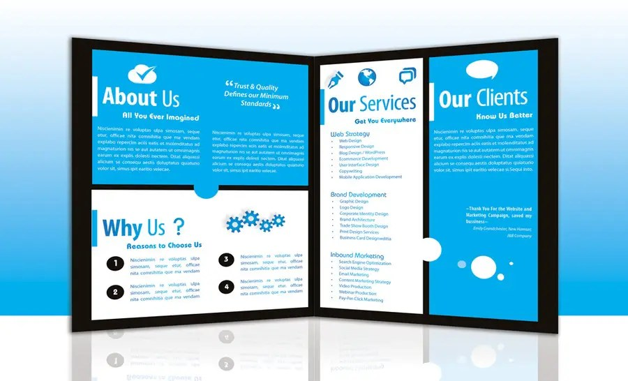 Entry #12 by marcia2 for Design a Brochure for a Digital marketing - marketing brochure