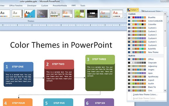 How to Export Color Themes in PowerPoint 2010