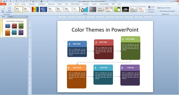 Powerpoint template color scheme costumepartyrun 41 color themes toneelgroepblik Choice Image