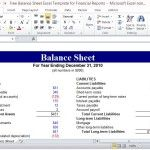 Simple Personal Finance Statement Template For Excel