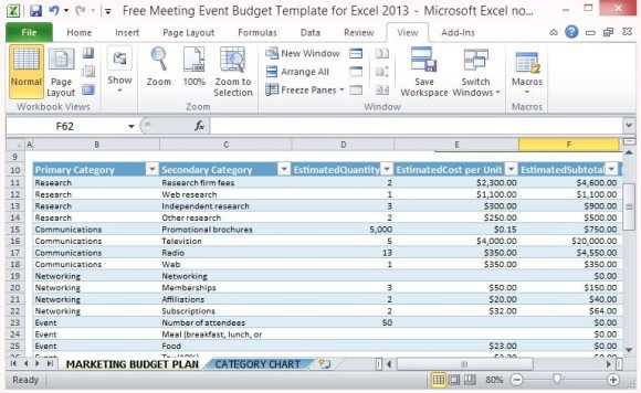 Free Retirement Plan Template For Excel 2013 Fppt Free Meeting Event Budget Template For Excel 2013