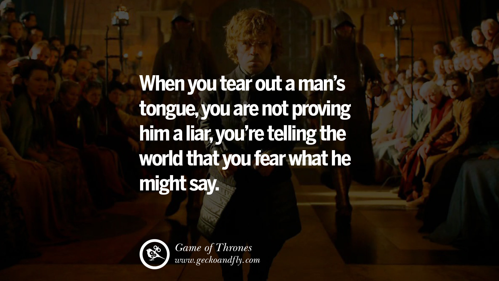 Tyrion Lannister Quotes Hd Wallpaper 15 Memorable Game Of Thrones Quotes By George Martin On