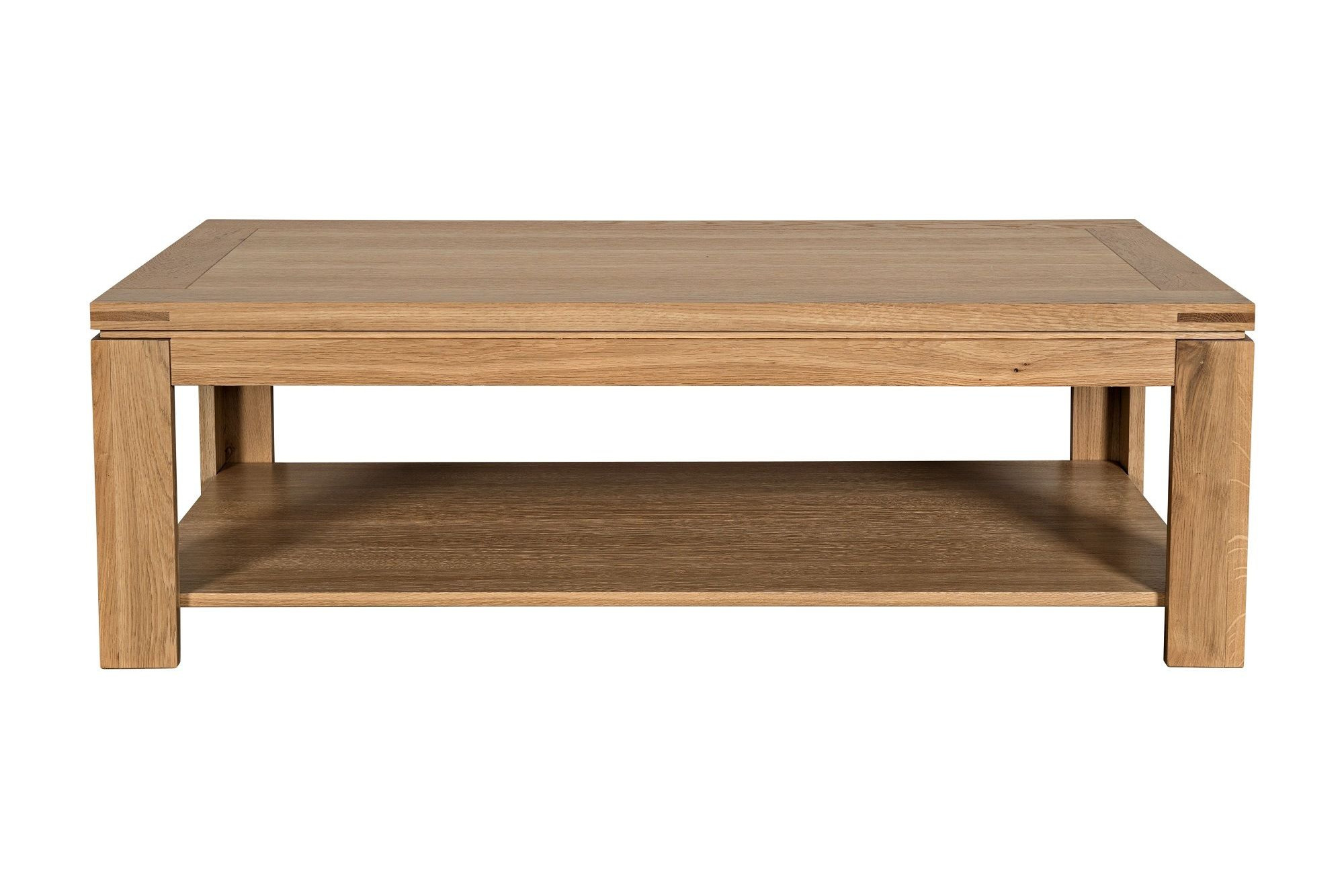 Table Basse Chene Clair Massif Table Basse Moderne En Bois Massif Chene De France Hellin