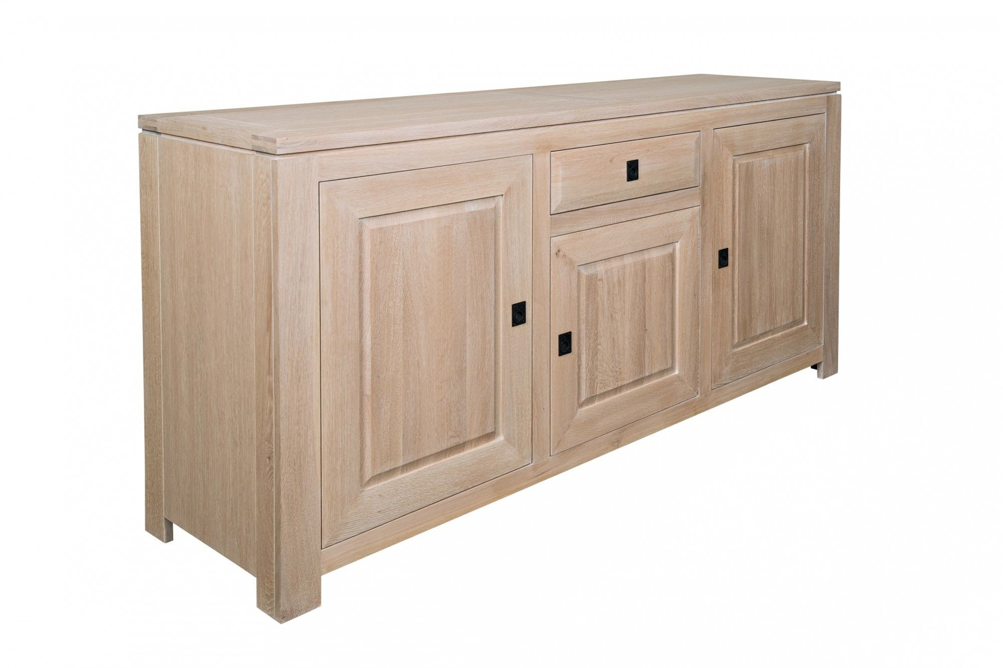 Comment Faire Du Chene Blanchi Buffet Massif Contemporain En Chêne Blanchi Boston Hellin