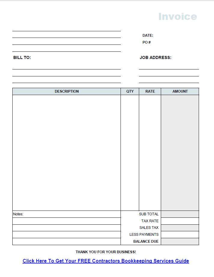Labor Invoice Template. free invoice template microsoft word mac ...