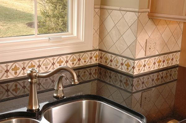 hand painted tile country french tuscan country donna kitchen backsplash design hand painted tiles