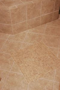 Slip resistant tile in a walk-in shower