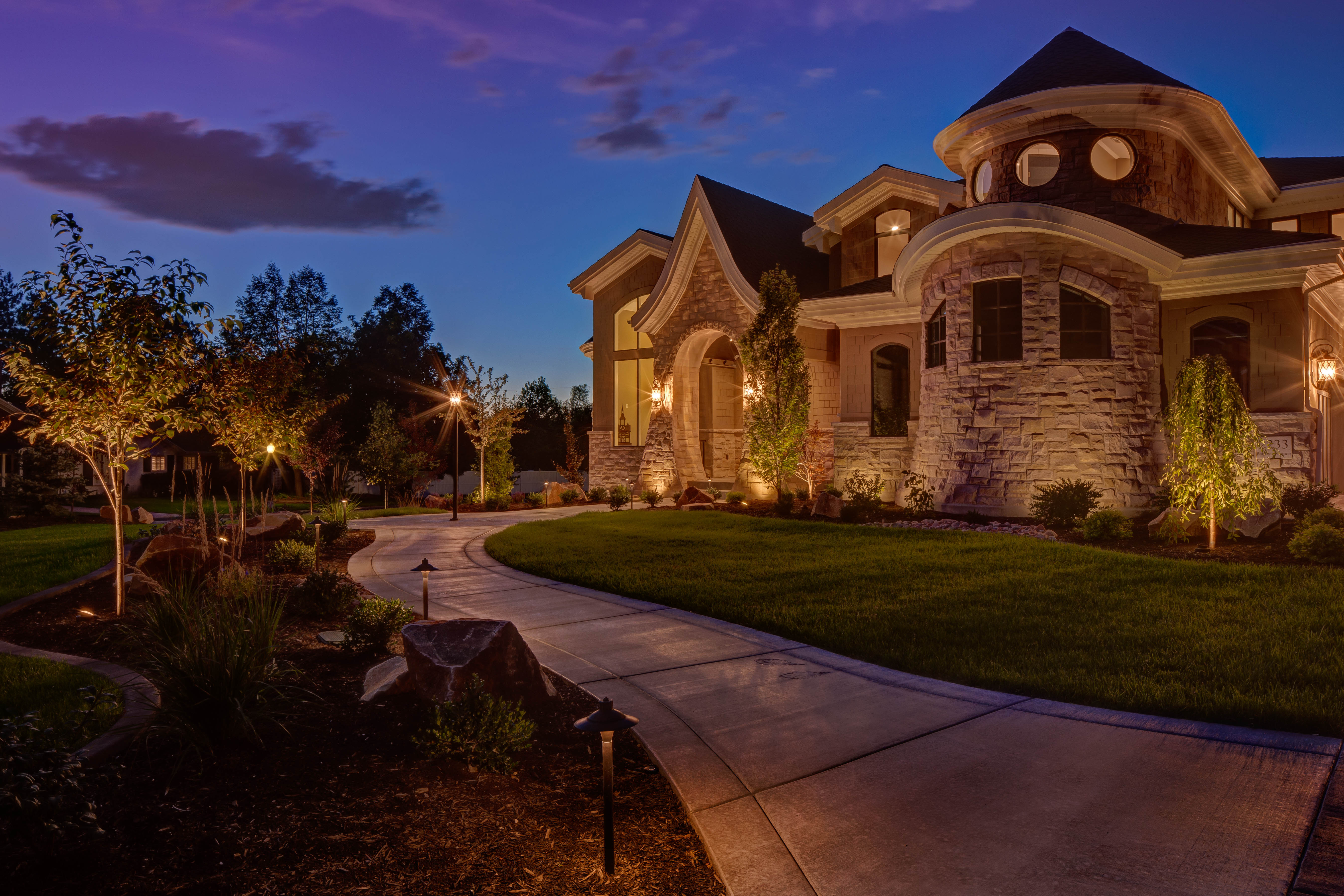 Pathway Lighting Design Ideas Outdoor Residential Security Lighting Ideas And Pictures