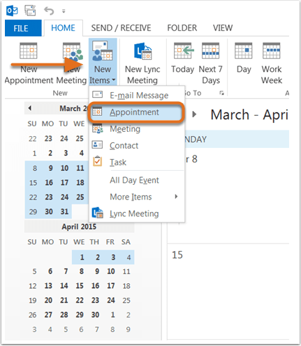 How Do You Create A New Calendar In Outlook Create Tasks And To Do Items Outlook Supportoffice How Do I Insert A Calendar Invite Into A Marketing Email