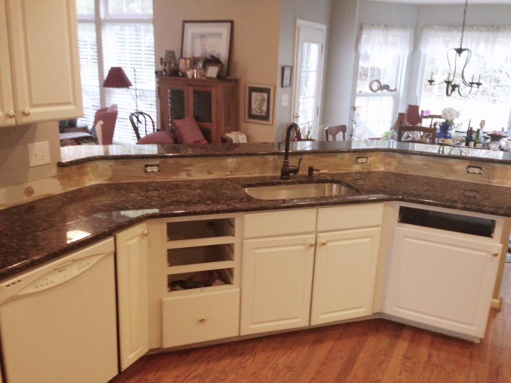 Off White Kitchen Cabinets With Brown Granite Blue Sapphire Granite Countertops Charlotte Nc