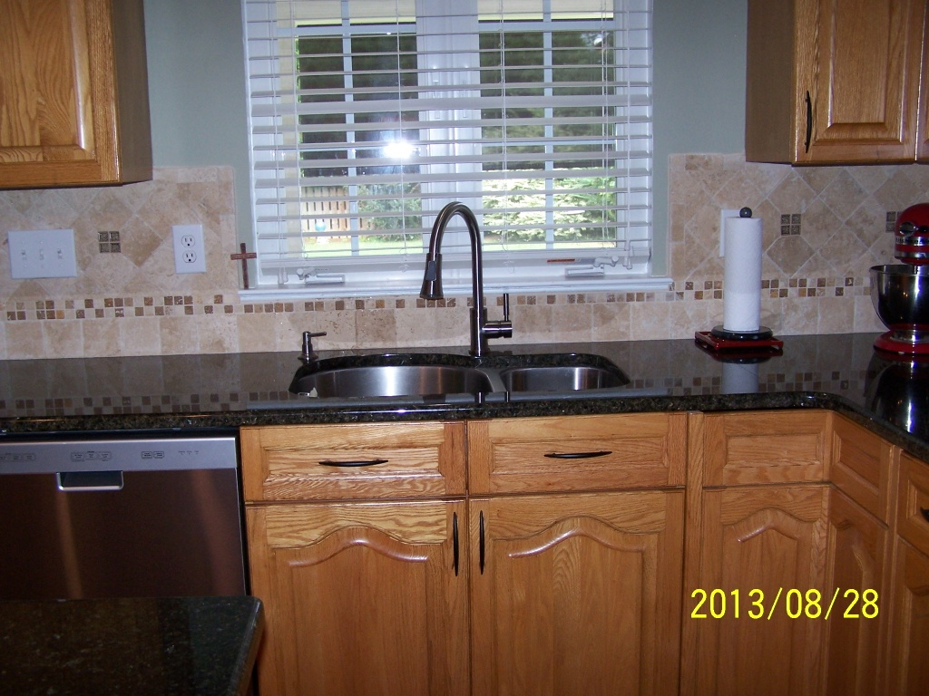 Backsplash With Uba Tuba Granite Countertop Granite Countertops Charlotte Nc Blog